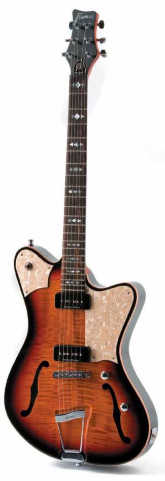 E-Gitarre von Framus, stehend