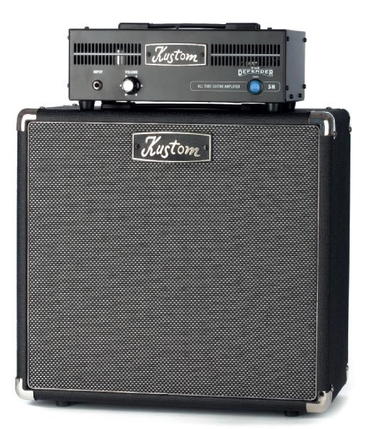 Stack-Gitarrenverstärker von Kustom, schwarz