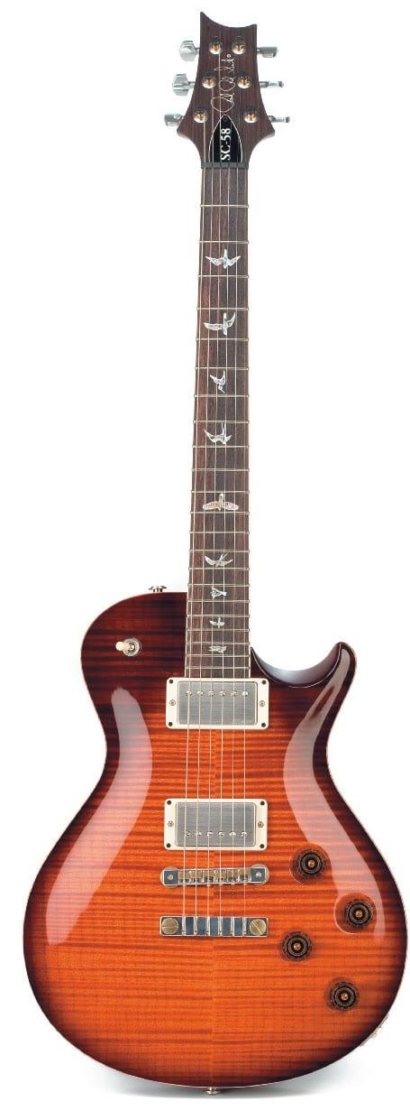 E-Gitarre von PRS. stehend