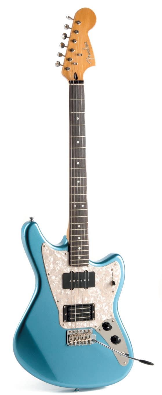 E-Gitarre von Fender im Sixties-Style, stehend