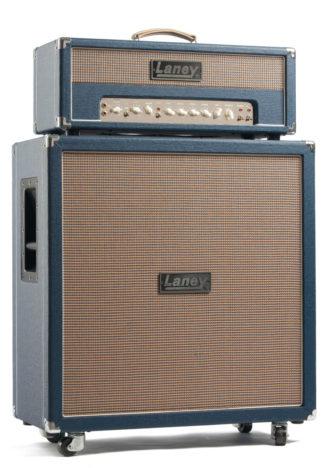 E-Gitarren-Topteil und Lautsprecher von Laney
