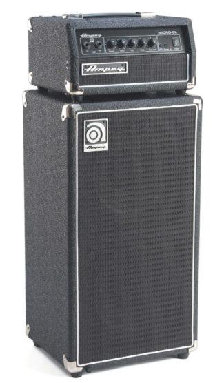 Bass-Verstärker-Stack von Ampeg, schwarz
