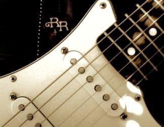 Detailansicht einer Blues-Gitarre