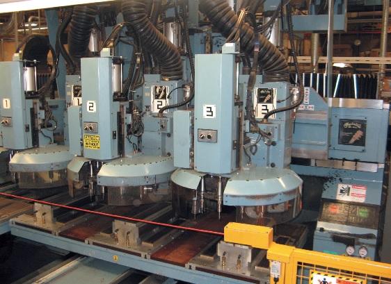 CNC-Fräsen übernehmen die meisten Arbeiten.