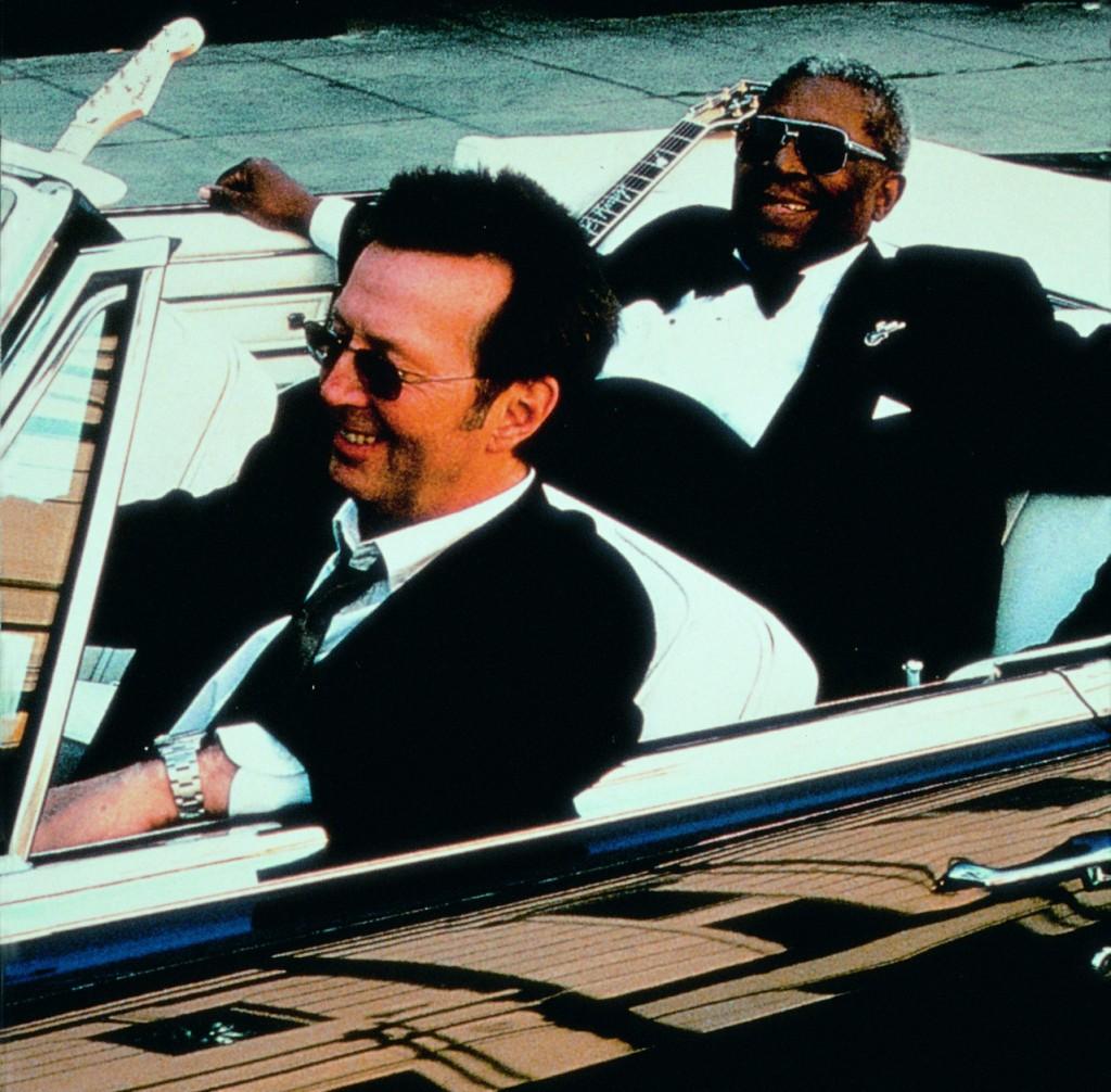 Eric Clapton und B.B. King gemeinsam im Auto
