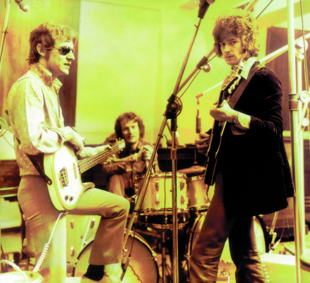 Clapton im Studio mit Cream