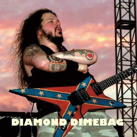 Dimebag Darrell mit Gitarre