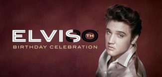 Elvis mit Birthday-Banner