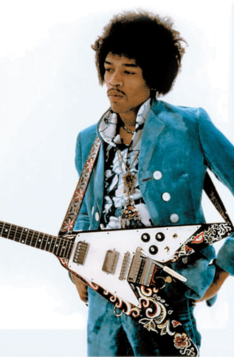 Jimmy Hendrix mit 67er Flying V