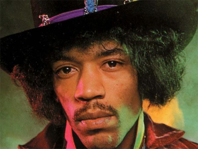 Jimi Hendrix mit Hut