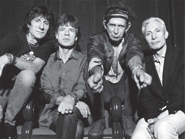 Rolling Stones in Schwarzweiß