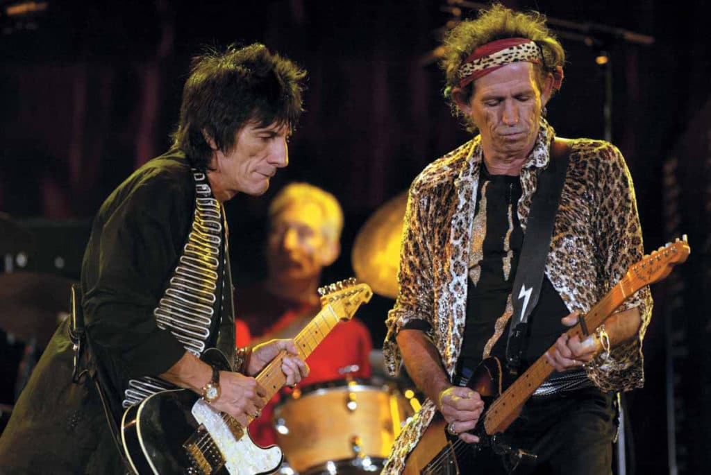 Ron Wood und Keith Richards auf der Bühne