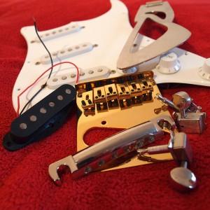 Tuning-Material für eine E-Gitarre