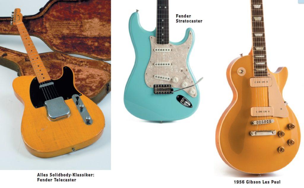 3 verschiedene Gitarren