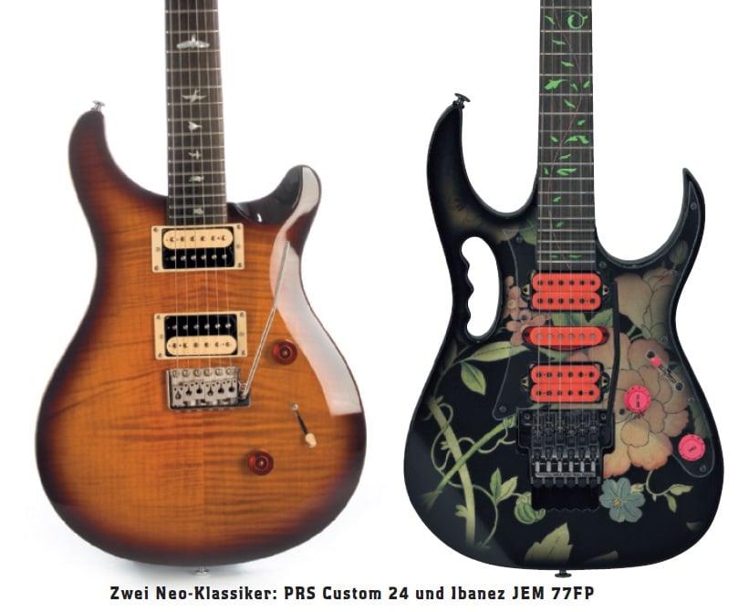 2 bunte Gitarren