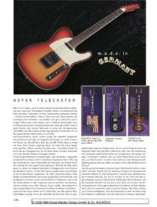 Hoyer Telecaster 1980 11