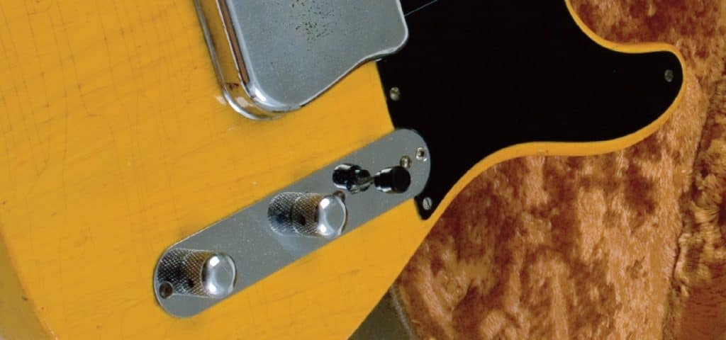 Kontrollplatte einer Fender Tele