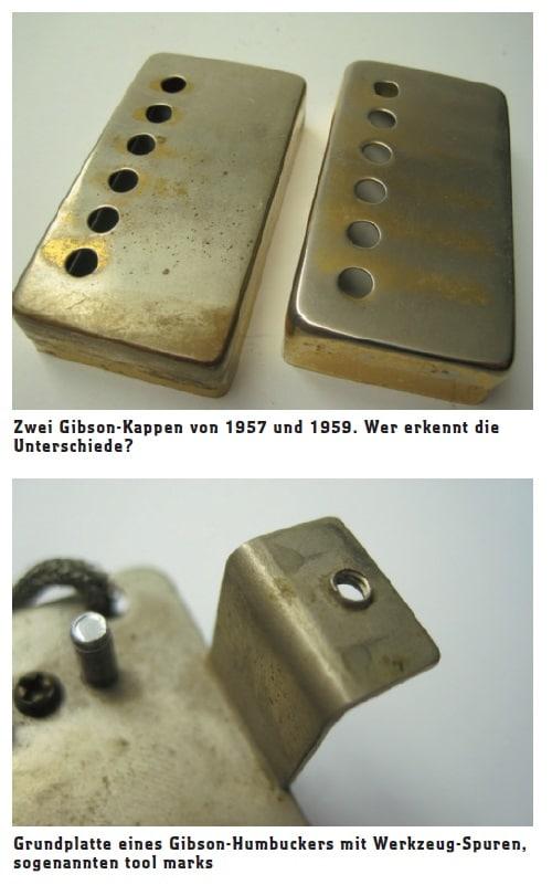 Gibson-Kappen von 1957 und 1959