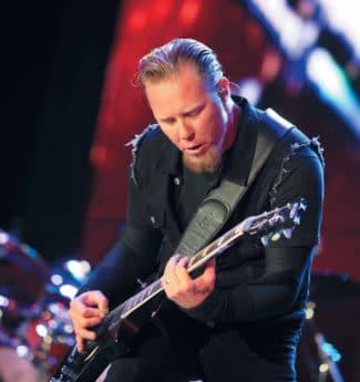 James Hetfield in action