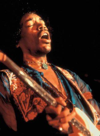 Jimi Hendrix singend