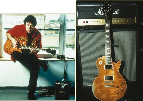 Gary Moore und seine Lieblingsgitarre die Les Paul Standard.
