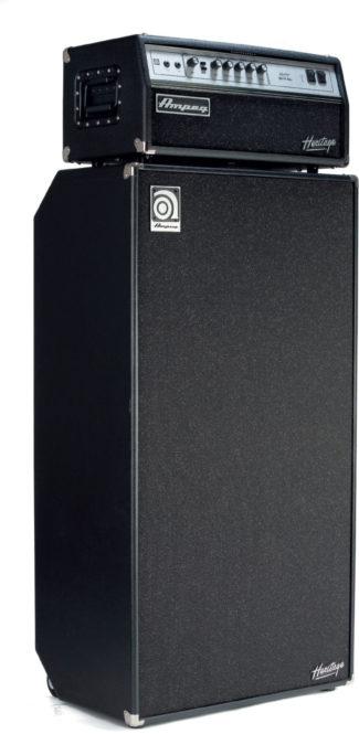Bassverstärker Ampeg Heritage, Topteil und Box, schwarz