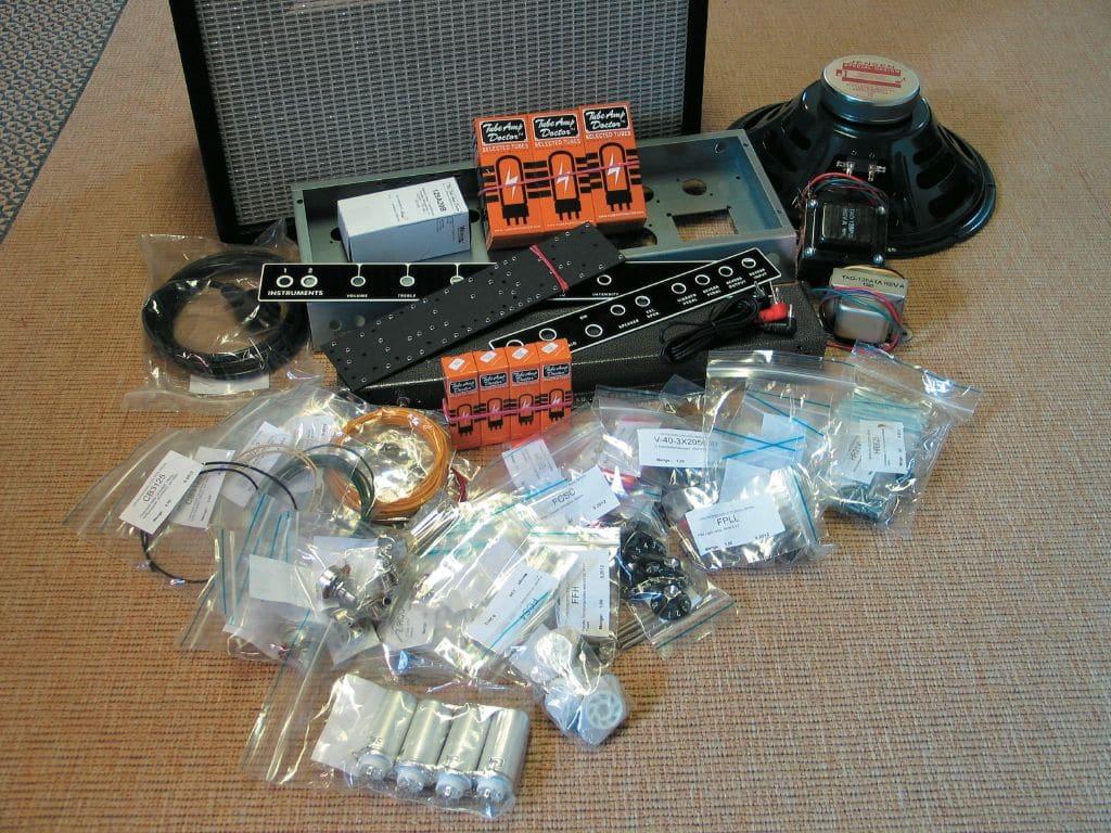 tube amp doctor blackface_06, Bauteile eingetütet