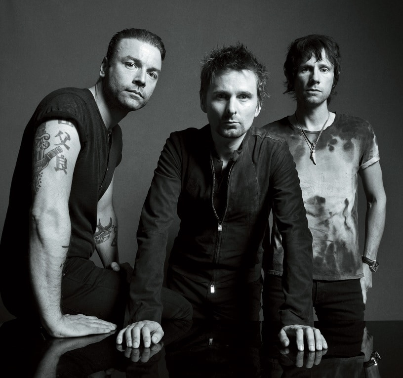 Die dreiköpfige Band Muse