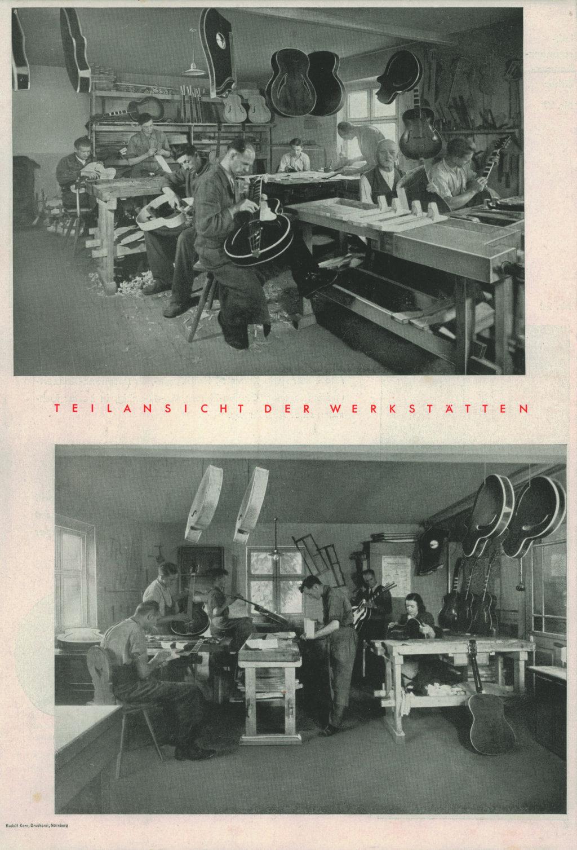 Gitarrenbau bei Hoyer 1948