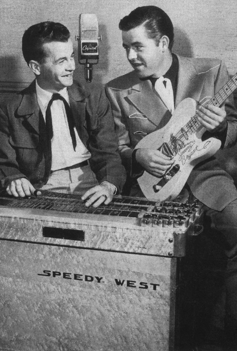 Jimmy Bryant an der Telecaster und Speedy West an einer Bigsby Steel-Guitar
