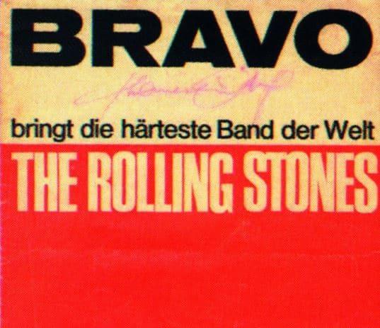 Titelseite der Bravo mit den Rolling Stones