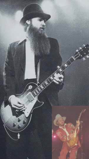 Billy Gibbons mit Les Paul Gitarre