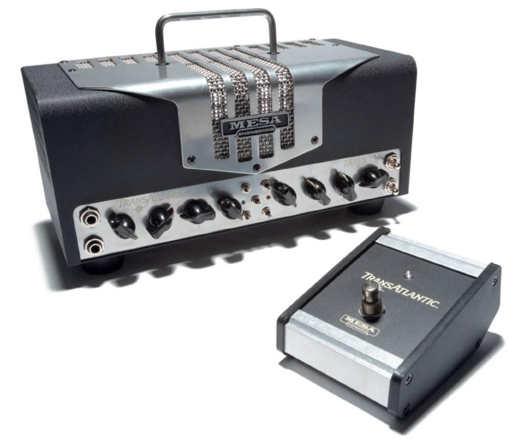 Mesa-Amp, schwarz-silbern, im Retro-Style, mit Fußschalter