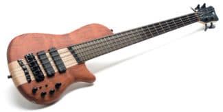 5-saitiger Warwick-Bass. liegend