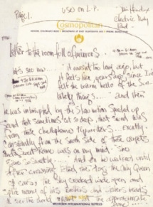 Aufzeichnungen von Jimi Hendrix