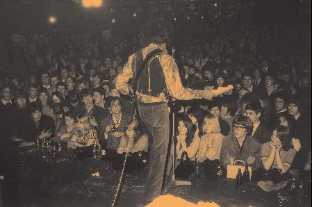 Jimi Hendrix auf der Bühne