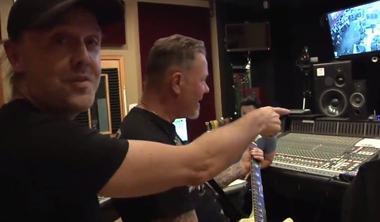 James Hetfield im Studio