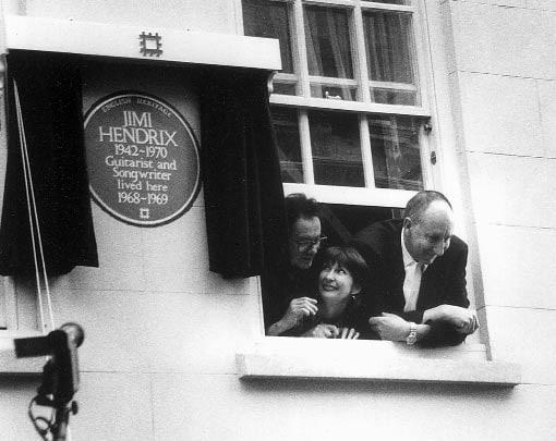 Noel Redding im Haus von Jimi Hendrix