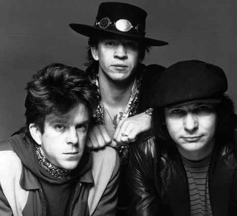 Stevie Ray Vaughan mit Band
