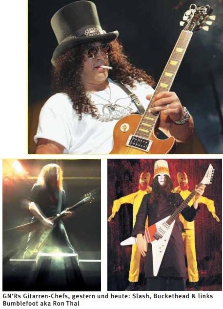 GN'Rs Gitarren-Chefs, gestern und heute