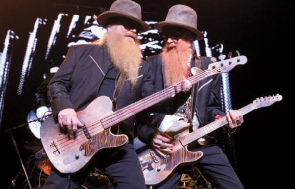 Dusty Hill und Billy Gibbons auf der Bühne