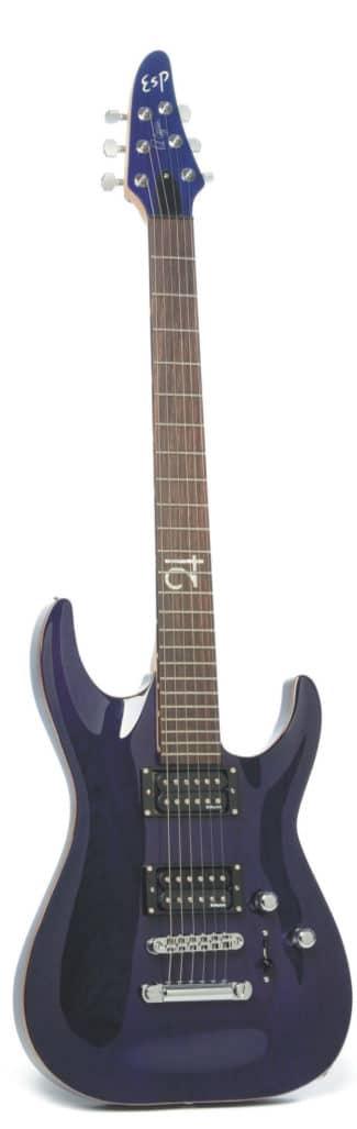 E-Gitarre von ESP, stehend