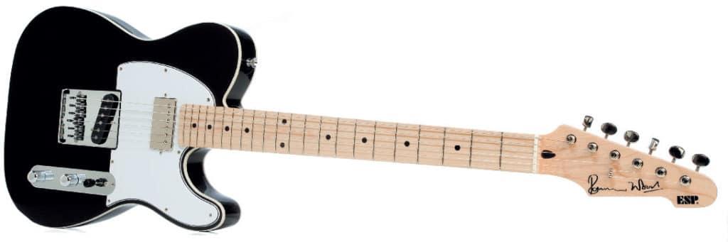 E-Gitarre von ESP im Telecaster-Stil plus Hals-Humbucker, schwarz/weiß