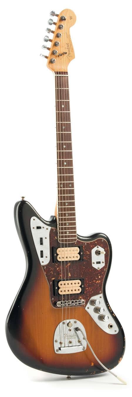 E-Gitarre von Fender, stehend