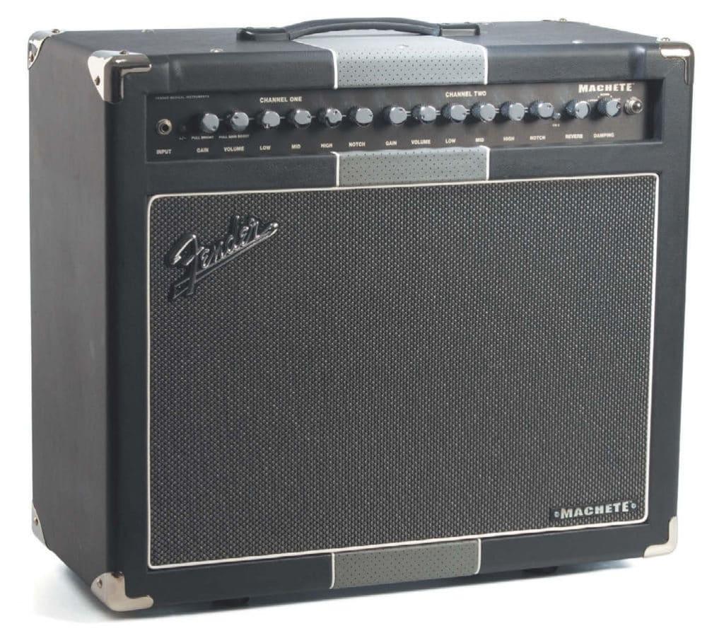 E-Gitarren-Combo-Verstärker von Fender, schwarz