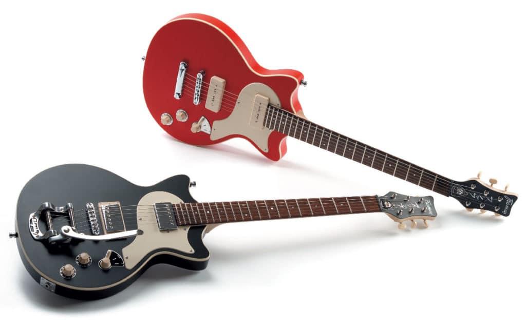 Zwei E-Gitarren von Framus im Vintage-Style