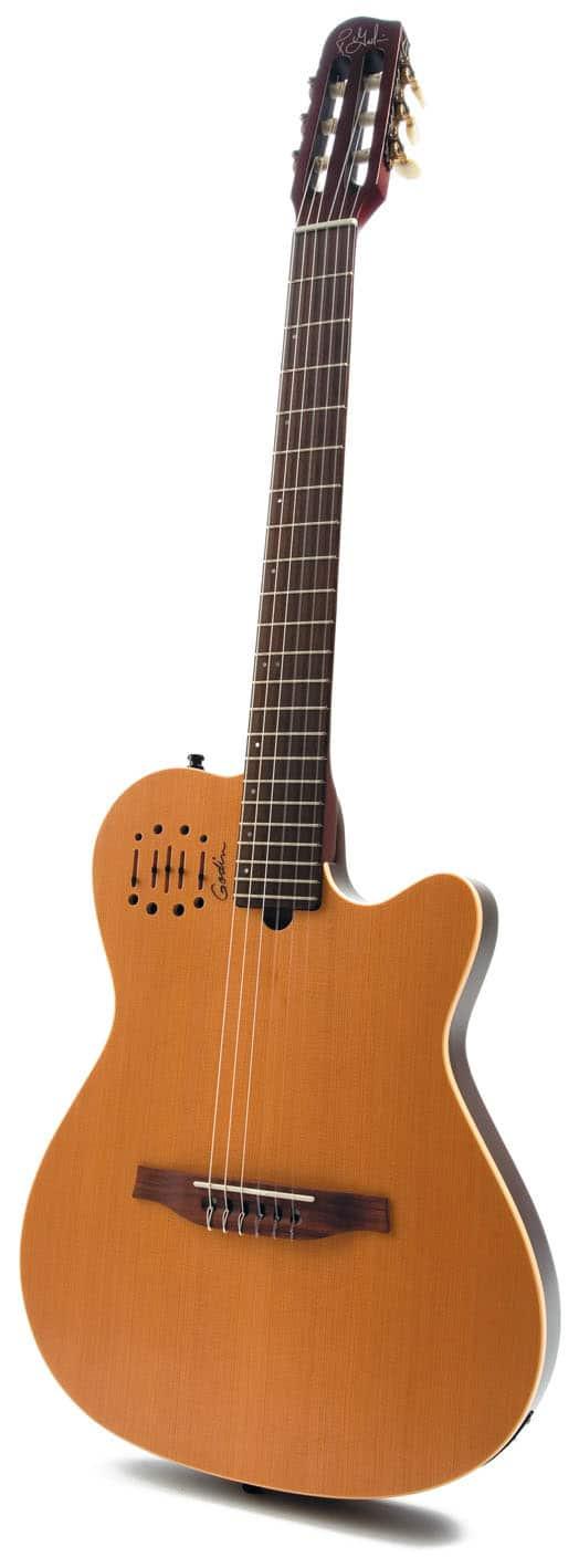 Semiakustik-Nylonstring-Gitarre von Godin, stehend