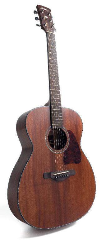 Braune Akustikgitarre von Ibanez, stehend