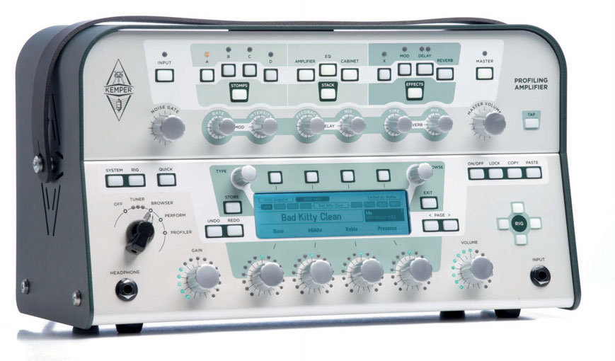 E-Gitarren-Vorverstärker mit Effekteinheiten, Topteil von Kemper, weiß