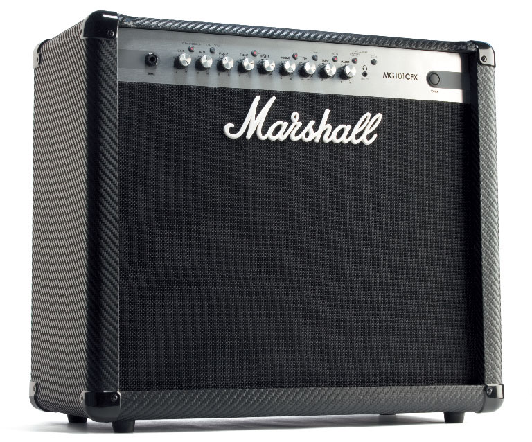 E-Gitarren- Kofferverstärker von Marshall, schwarz